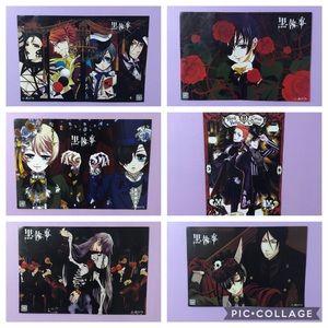 6 Black Butler Posters Anime Manga